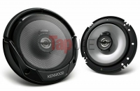 Kenwood KFC-E1665 300W 6.25 Inch 2 Way Car Speaker (Black)